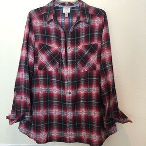 Knox Rose Flannel long sleeve